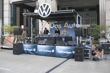 16x16 stage with VW Promotional Banners
