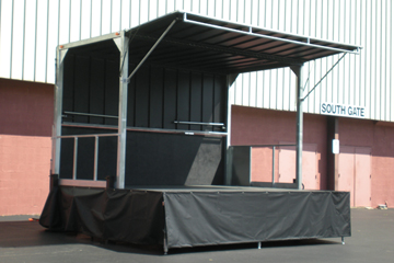 16'x12' stage in a bandshell configuration